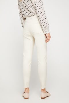 Cortefiel Faux leather sensational jeggings White