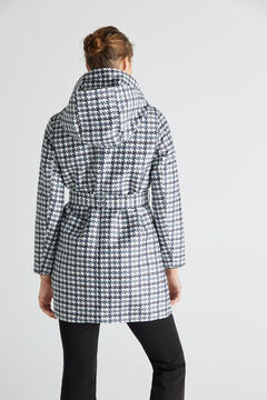 Cortefiel Houndstooth trench coat Gray