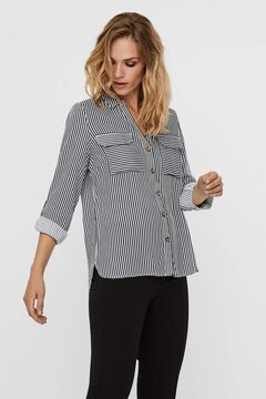 Cortefiel Shirt with pockets Ecru