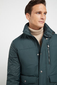 Cortefiel Thermolite eco quilted jacket Dark green