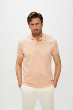 Cortefiel Oxford fabric short-sleeved polo shirt Red