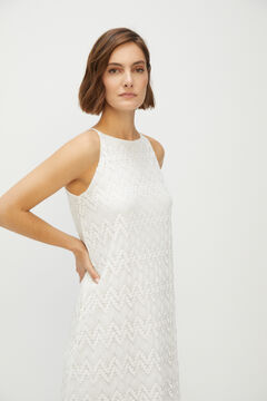 Cortefiel Lace top with ruffle White