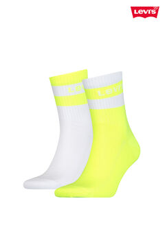 Cortefiel Neon striped ankle Levi's® socks pack Yellow
