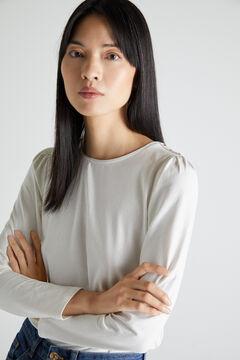 Cortefiel T-shirt básica manga abaloada Branco