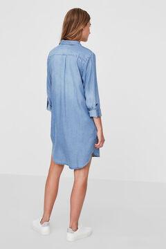 Cortefiel Vestido corto vaquero Royal blue