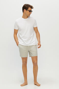 Cortefiel Stretchy Bermuda shorts in responsible fabric Gray