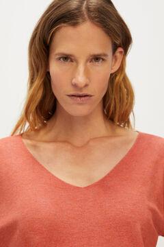 Cortefiel V-neck jumper Red