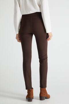 Cortefiel Ponte Roma leggings Dark brown