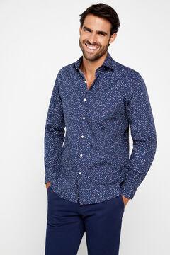 Cortefiel Printed shirt Navy