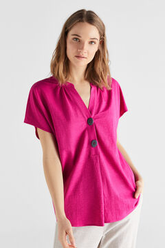Cortefiel Comfort fabric blouse Maroon