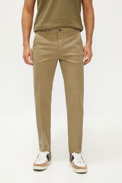 Cortefiel Calças cintura elástica estrutura slim fit Cinzento