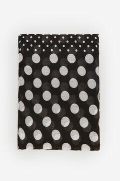 Cortefiel Polka-dot fine scarf Black