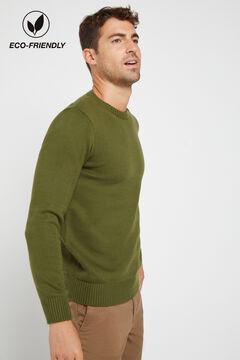 Cortefiel Crew neck jumper Green