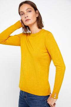 Cortefiel Crew neck sweater Yellow