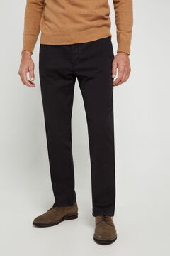 Cortefiel Classic fit winter weight chinos Black