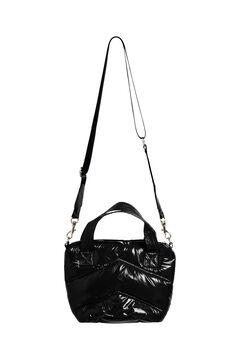 Cortefiel Padded shoulder bag Black