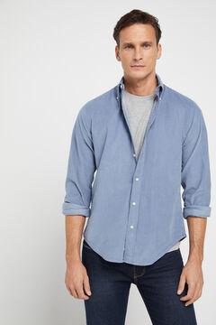 Cortefiel Corduroy shirt Blue