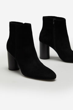 Cortefiel Convertible leather boot Black