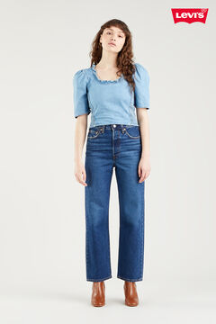 Cortefiel Ribcage Jeans™ Straight ankle Royal blue