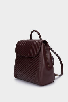 Cortefiel Quilted backpack Red