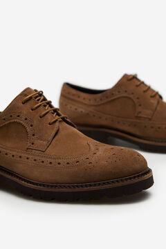 Cortefiel Zapato cordones piso goma Beige