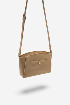 Cortefiel Crossbody bag with front pocket Beige