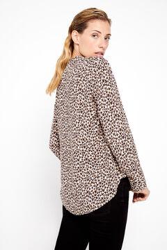 Cortefiel Eco-Vero fabric blouse Ecru