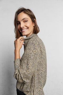 Cortefiel Camisa tejido sostenible Marrón