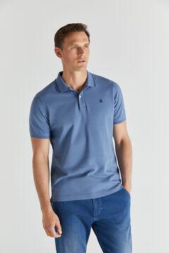 Cortefiel Short-sleeved polo shirt Royal blue