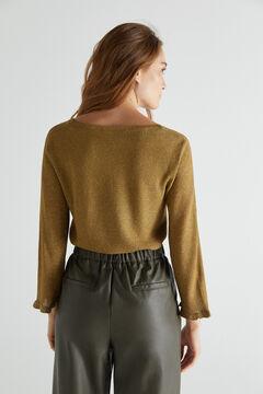 Cortefiel Metallic yarn jumper Green