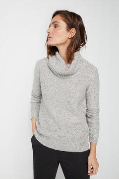 Cortefiel Lurex multi-yarn jumper Gray