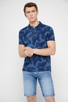 Cortefiel Short-sleeved polo shirt Blue