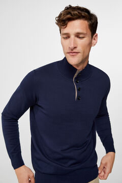 Cortefiel Turtleneck jumper  Navy