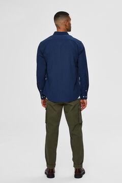 Cortefiel Camisa bolsillo Azul