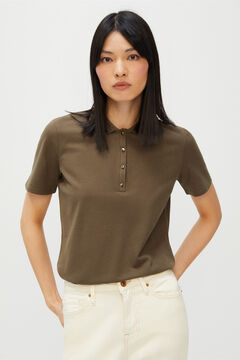 Cortefiel Essential piqué polo shirt Dark gray