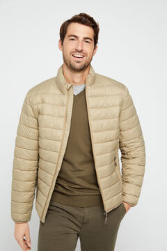 Cortefiel Ultralight thermolite jacket Khaki