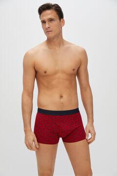 Cortefiel Jersey-knit boxers Redgarnet