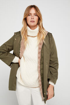 Cortefiel Multi-garment parka Green