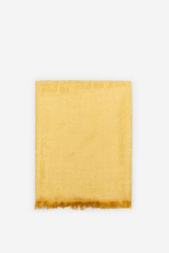 Cortefiel Logo jacquard scarf Yellow