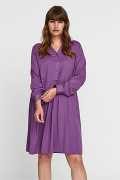 Cortefiel Vestido camiseiro Curve Rosa