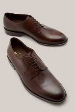 Cortefiel Leather-soled dress shoe Dark brown