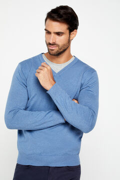 Cortefiel V-neck jumper Blue