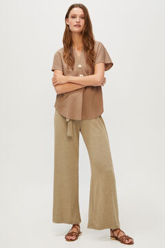 Cortefiel Comfort blouse Tobaco