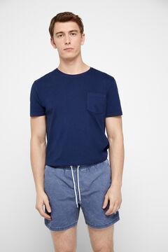 Cortefiel Plain vintage swimming shorts Royal blue