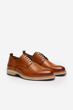 Cortefiel Lace-up shoe Tobaco