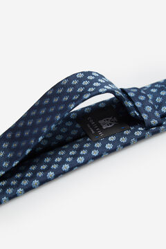 Cortefiel Gravata jacquard geométrico Azul