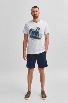 Cortefiel T-shirt Ecru