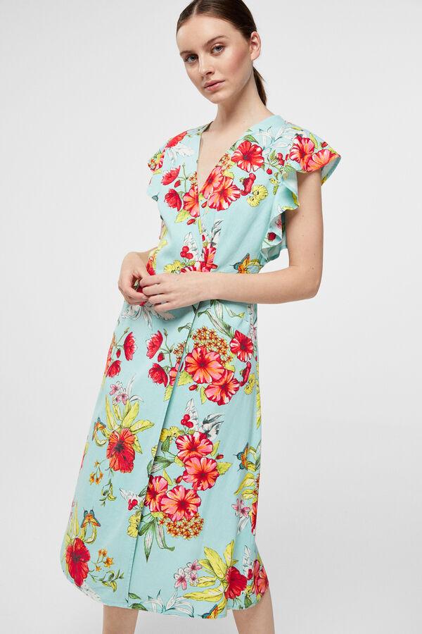 3d984d179 Cortefiel Vestido lino Estampado · Comprar