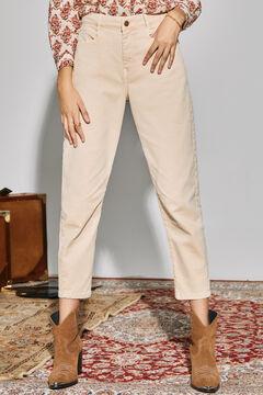 Cortefiel Slouchy fit jeans Ecru
