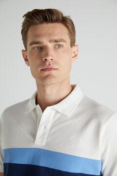 Cortefiel Short-sleeved polo shirt Ecru
